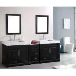bathroom two sink vanities design element dec101 odyssey 90 inch sink bathroom
