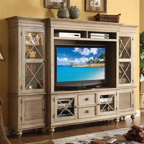entertainment room furniture riverside furniture coventry entertainment center in driftwood 32440 42 44 48 49 kit