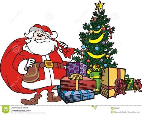 Fensterdeko Weihnachten Stock by De Boom Kerstmis De Kerstman Stock Illustratie