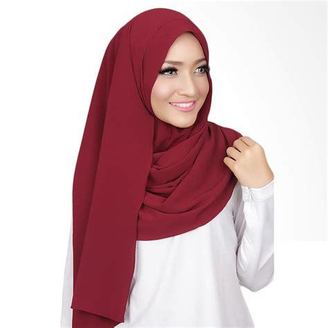 Krudung Instant jual cantik kerudung nadine plain instant shawl maroon harga kualitas