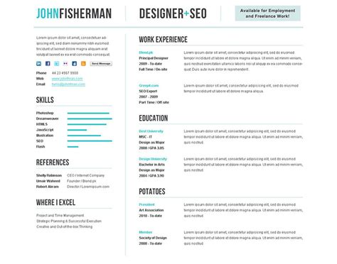 Resume Layout Exles 2014 Best Cv Template 2014 Http Webdesign14