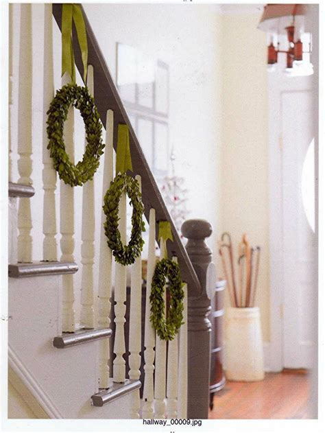 banister garland hangers nice alternative to hanging a garland along the banister