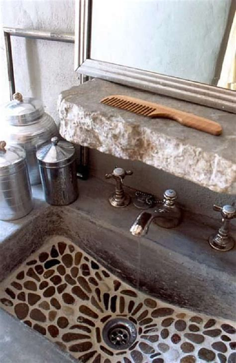 rocks in bathroom sink 18 cool natural stone sinks design ideas