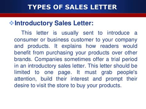 Sle Letter For Product Offering Sales Letter