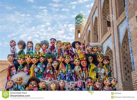 uzbek traditional clothing uzbekistan clothes tyubiteika uzbek puppets dressed in traditional clothes stock image