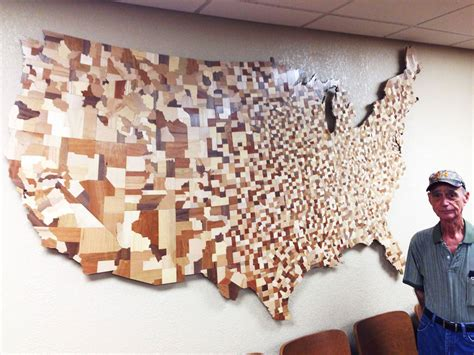 woodworking usa usa counties map made from 3 000 carved