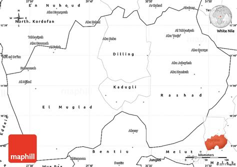 South Sudan Map Outline by Blank Simple Map Of South Kordofan