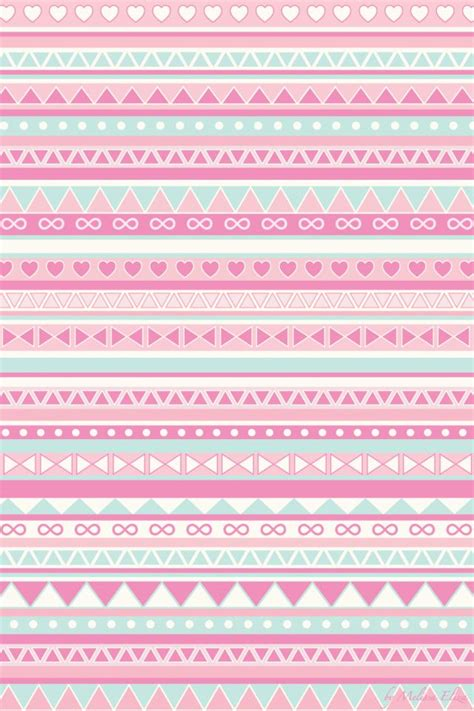 girly pattern pinterest mint green and pink tribal cute phone wallpaper