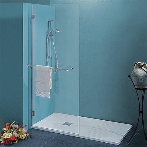 piuesse docce parete doccia da 90 cm in cristallo 8 mm con braccio