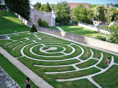 Labyrinth Garden by Chartres Cathedral Labyrinth The Largest One Built