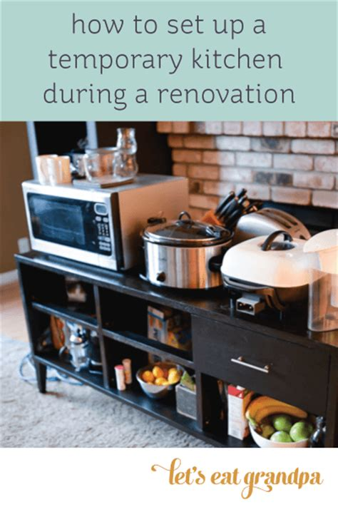 temporary kitchen remodel real life renovations surviving without a kitchen hey