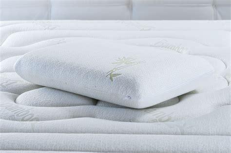 oreillers en oreiller memoire de forme bambou