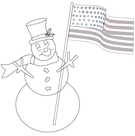 snowman hat coloring page