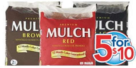 lowes or home depot mulch and garden soil 2 per bag my
