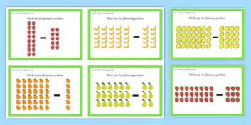 year 2 array subtraction challenge cards year 2 array