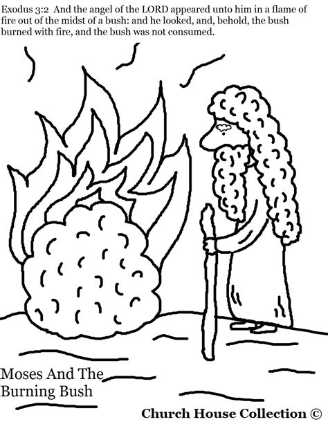 printable coloring pages exodus moses and the burning bush coloring pages