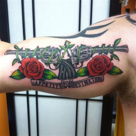 gun n roses tattoo 10 guns n roses tattoos for all rock enthusiasts