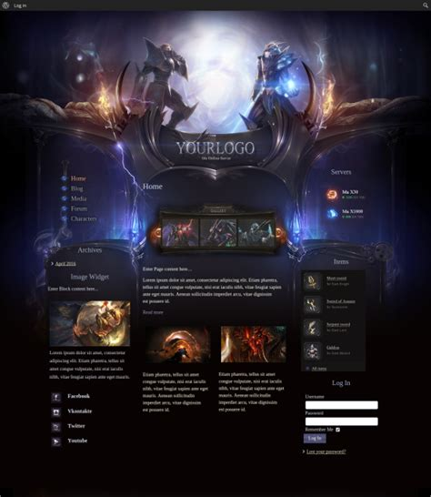 game website layout 48 gaming website themes templates free premium
