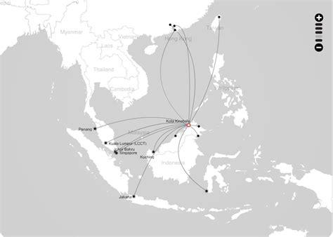 airasia route airasia route map from kota kinabalu