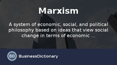 social themes meaning what is marxism definition and meaning