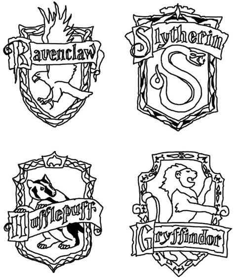 gryffindor crest coloring page coloring home