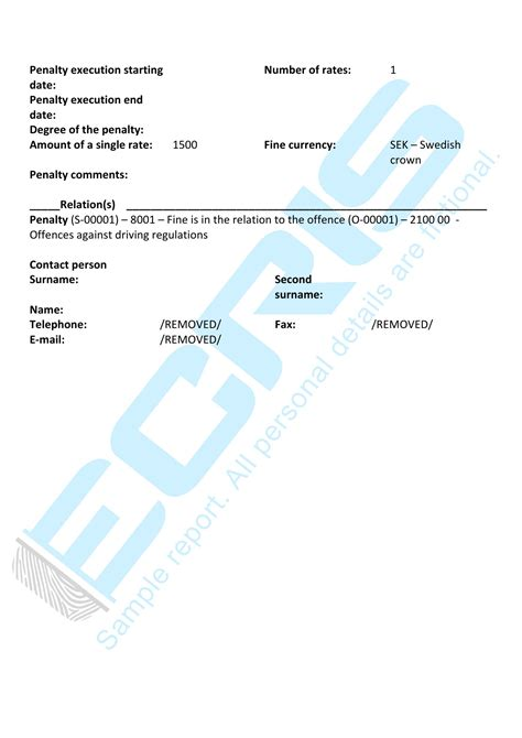 Criminal Record Registry Swedish Criminal Record Check From The National Board Ecris