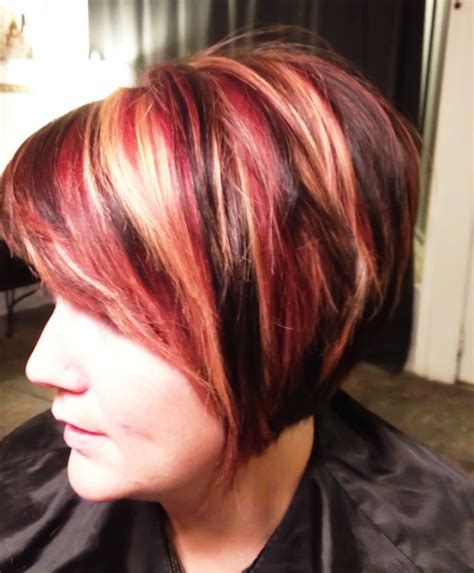 fall highlights for brown hair fall hair color red blonde and dark brown hair