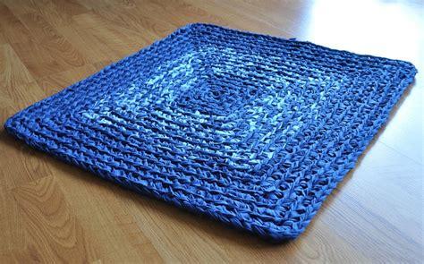 square rag rug blue square rag rug