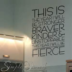 this is the year i will be fierce motivational wall