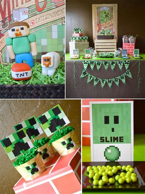 birthday themes games 334 best minecraft party ideas images on pinterest
