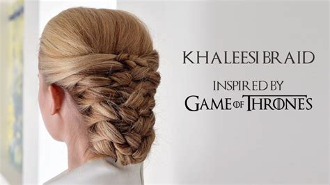 how to do khaleesi braids game of thrones inspired hair tutorial khaleesi braid