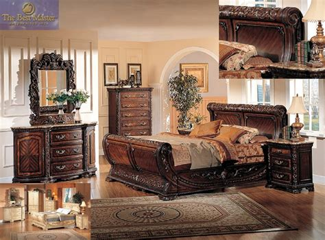 best bedroom sets best furniture 4 pc b1008 dark walnut with marble top