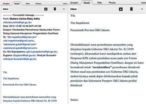 ini surat pembatalan undangan kpk untuk gubernur dki okezone news