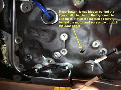 resetting window motor 350z how to repair stuck broken window motor my350z com