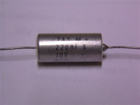 does tantalum capacitor polarity 4 mallory tas m 220mf 10v axial tantalum capacitors ebay