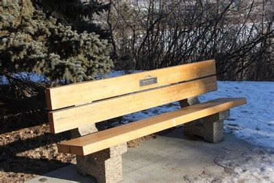 bench edmonton laurence decore edmonton alberta dedicated benches on