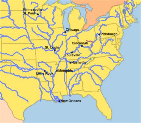 United States Major River Systems Map by River Maps Of United States Cruise Guide