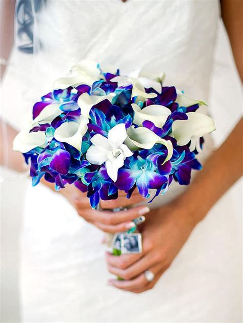 wedding bouquet blue beautiful blue wedding bouquets www pixshark
