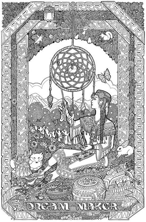 giant coloring pages for adults 114 b 228 sta bilderna om dreamcatcher coloring pages for