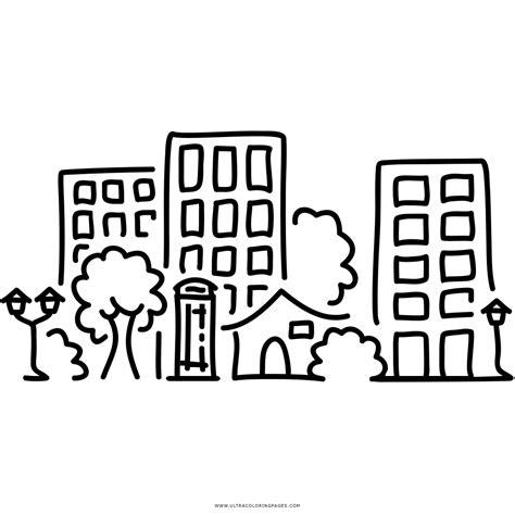 ciudad de dibujos para colorear dibujo de ciudad para colorear ultra coloring pages