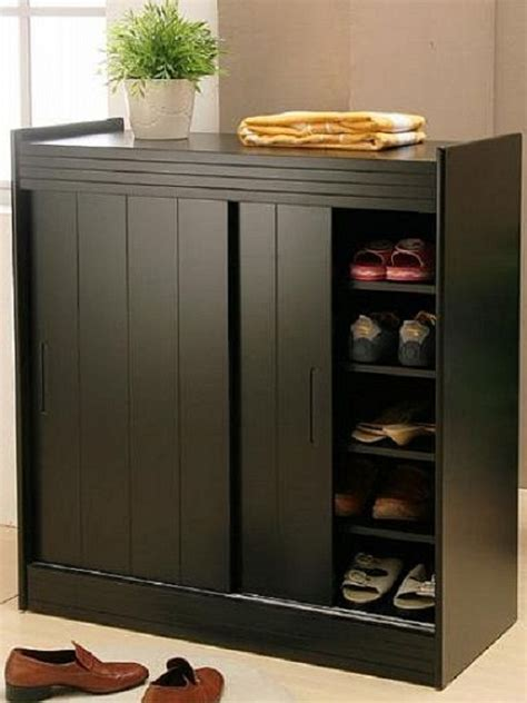 shoe storage cabinet black black shoe organizer cabinet with doors shoe storage