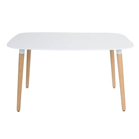 Eames Style Dsw White Rectangular Dining Table White Rectangle Dining Table