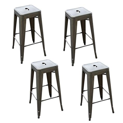 Stackable Metal Bar Stools by Amerihome Loft Style 30 In Stackable Metal Bar Stool In