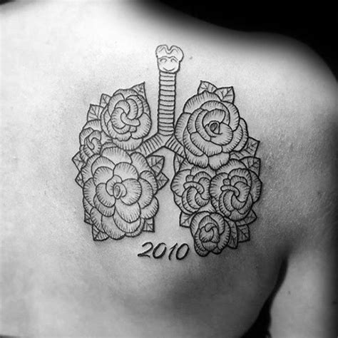 lung cancer tattoos for men 40 lung designs for organ ink ideas