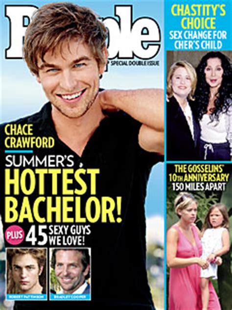 single celebrities who never married singular magazine chace s reaction to being people s hottest bachelor it s