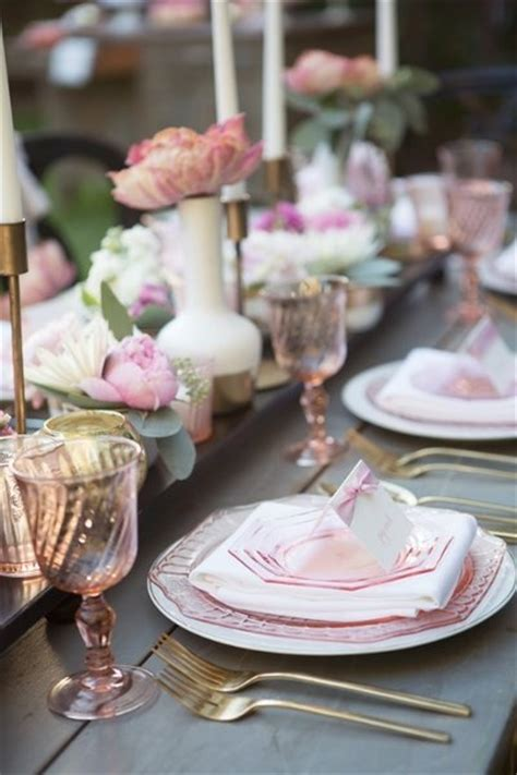 bridal shower dinner table the 25 best pink table settings ideas on pinterest pink