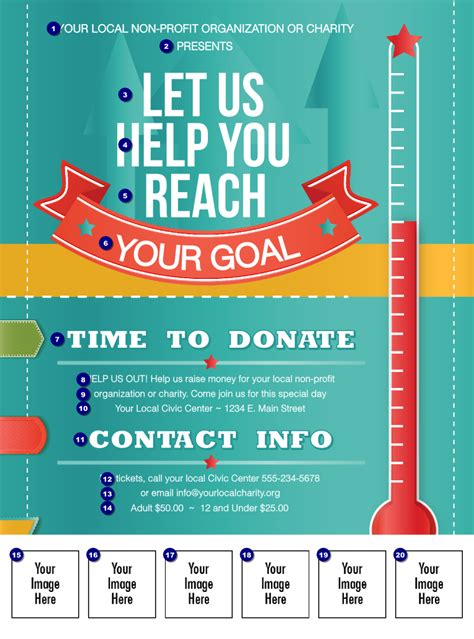 fundraising brochure template fundraising thermometer logo flyer ticketprinting
