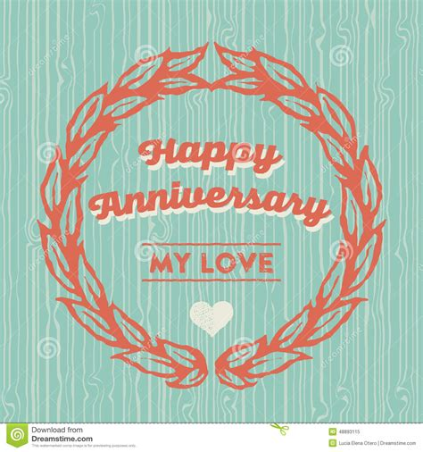 happy anniversary card template happy anniversary card stock vector illustration of