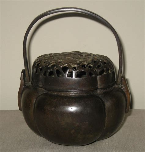 swinging incense burner antique chinese bronze small incense burner with swing