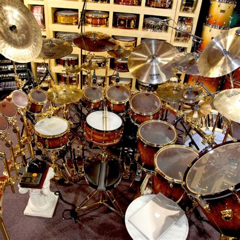 Set Drum Pearl Merah Asik drum studio 171 todd sucherman